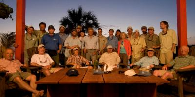 Bahamas trip Val Atkinson w 30 of best Fly Fishermen